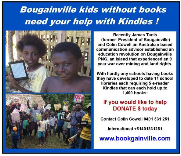 Bookgainville Project on Bougainville PNG